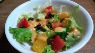 柿とフルーツいろいろサラダ