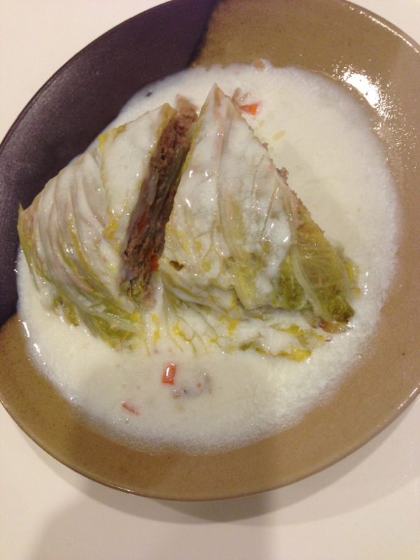 白菜と牛挽肉のミルフィーユ