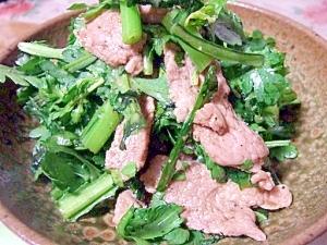 春菊が好きになるレシピ~豚肉と春菊のナムル~