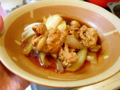 豚肉と玉ねぎの醤油すっぱ煮