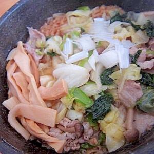 塩抜きメンマ豚肉野菜炒りチキンラーメン