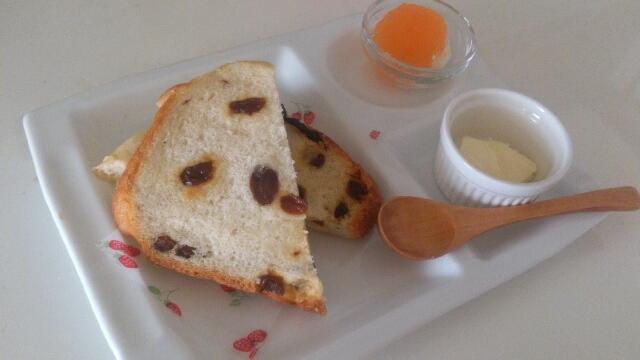 ぶどうたっぷり~HBでぶどう食パン