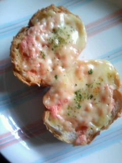 辛子明太子マヨ&チーズ☆フランスパン
