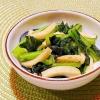 小松菜とかまぼこの柚子胡椒炒め