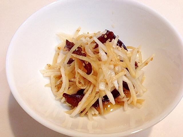 コリコリっ☆大根とキクラゲのポン酢サラダ
