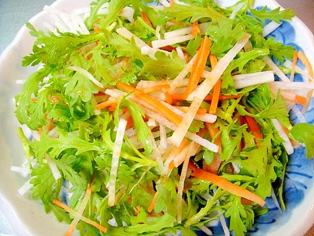 春菊と大根人参の3色サラダ