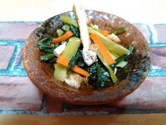 ★ごま油香る小松菜と油揚げの炒め煮★
