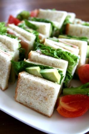 ♪アボガド 生ハム ルッコラのサンドイッチ♪