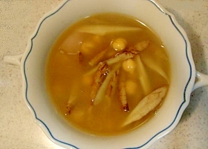 牛蒡とひよこ豆のカレースープ