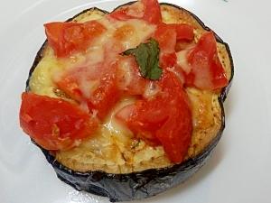 米ナスとトマトの簡単チーズ焼き