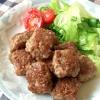 ★合挽き肉のサイコロステーキ★