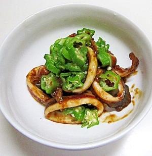 イカとオクラのスタミナにんにく味噌炒め