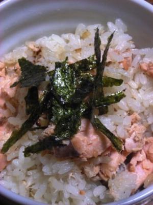 小鍋で炊く 秋鮭の炊き込みご飯