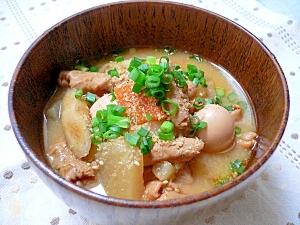 ピリ辛モツ煮(うずらの卵入り)