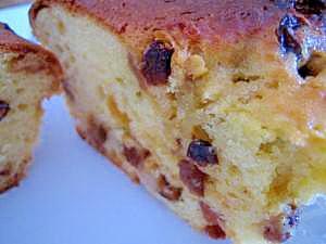 ほんのり洋酒の香り♪ドライフルーツのパウンドケーキ