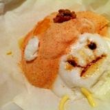 ふわふわキイコドモダケのチーズ淡雪
