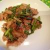 豚肉とにんにくの芽炒め