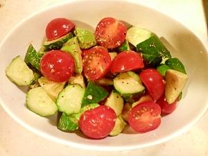 アボカド・きゅうり・プチトマトのゴロゴロサラダ☆ レシピ・作り方 by naonao5176|楽天レシピ