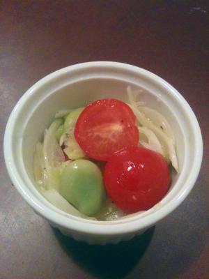 そら豆のマリネ風サラダ