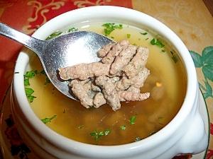 ちょっと豪華に&健康に?レバーミンチ入りスープ