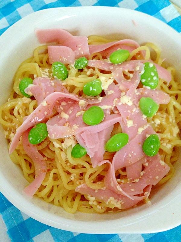 枝豆と魚肉ソーセージの冷やし中華★