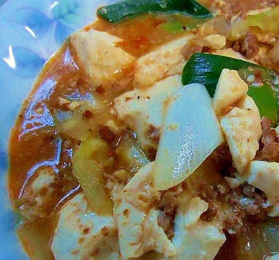 味噌汁リメイク 麻婆風豆腐