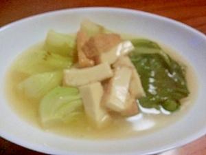チンゲンサイの白湯スープ…もどき