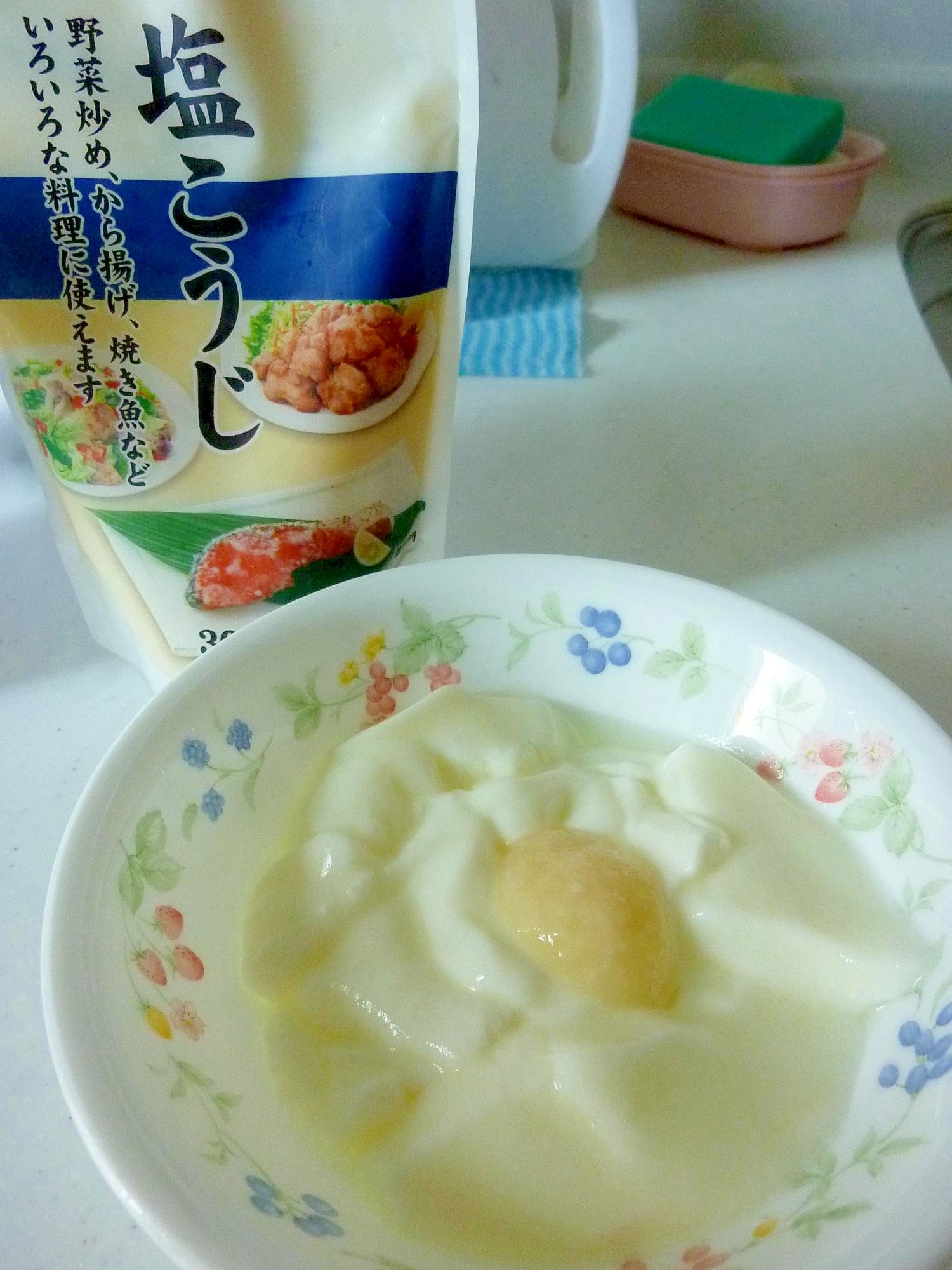 ☆腸内環境改善♪ 塩麹&リンゴ酢ヨーグルト☆
