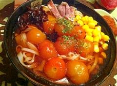 トマトのコンフィたっぷりの冷たい稲庭うどん