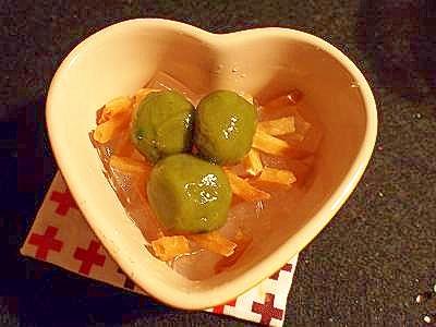 甘くて美味しい☆白玉&芋けんぴで 寒天デザート