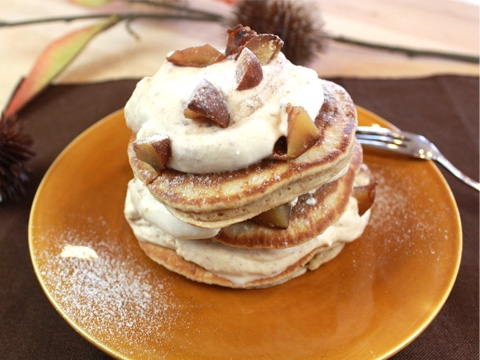 【ママパン】渋皮栗のパンケーキ