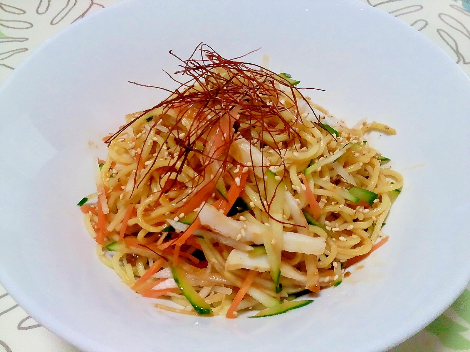 野菜たっぷり辛み涼麺++