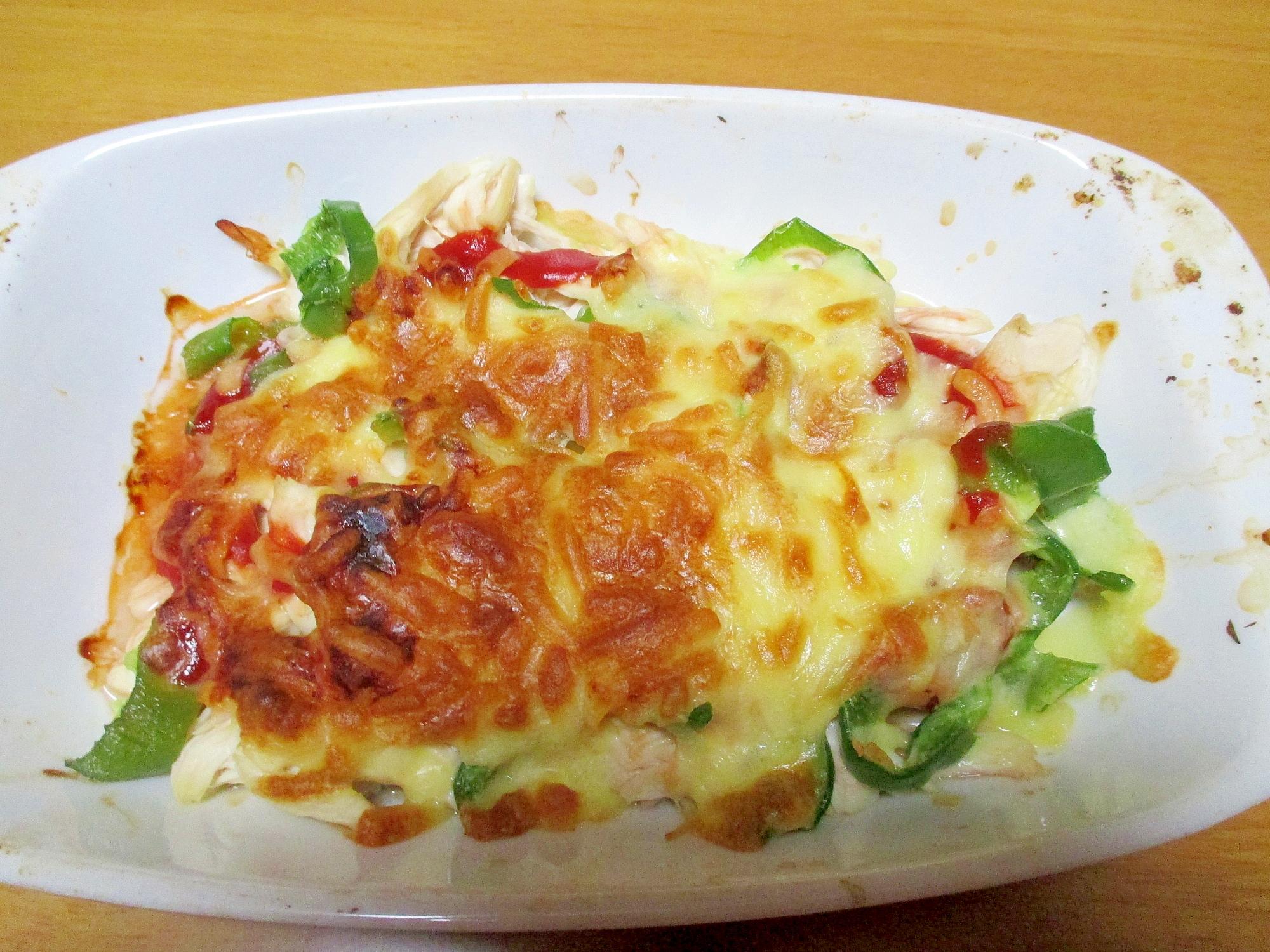 ささみとピーマンのケチャップチーズ焼き レシピ・作り方 by みぽりん9215|楽天レシピ