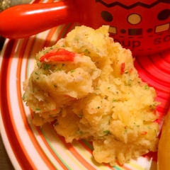 紅ずわい蟹のオリーブクリームポテトサラダ