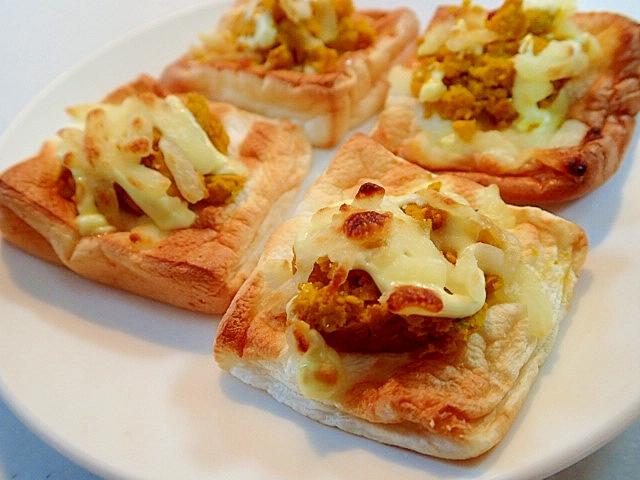 コンべクションオーブンで はんぺんのかぼチーズ焼き