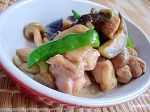鶏と夏野菜の甘辛みそ炒め