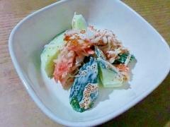簡単♪胡瓜とカニカマのサラダ