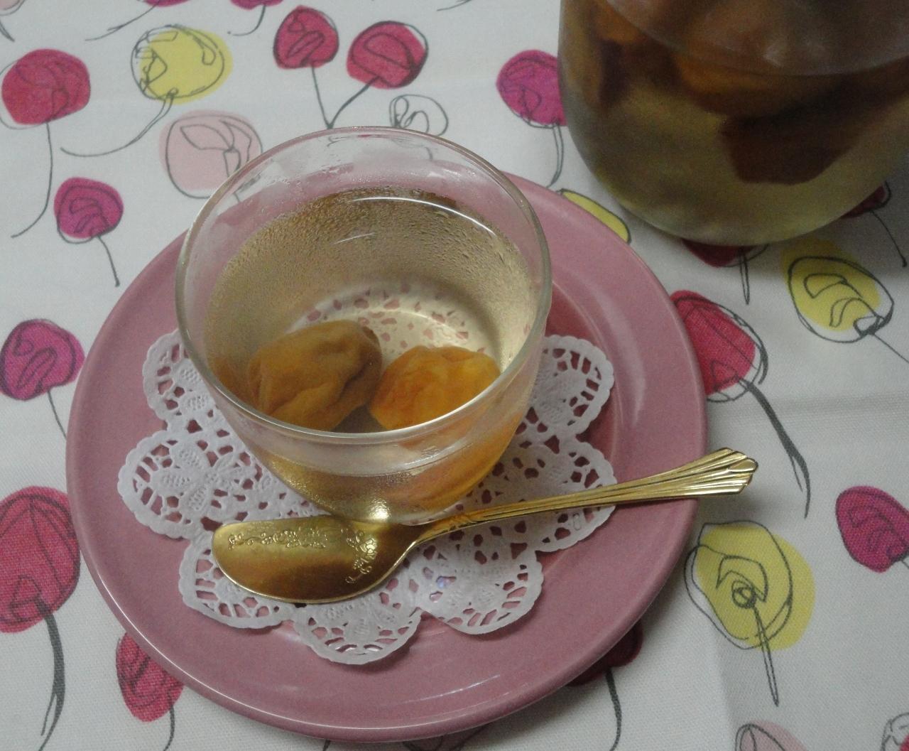 手作り梅シロップで梅ゼリー
