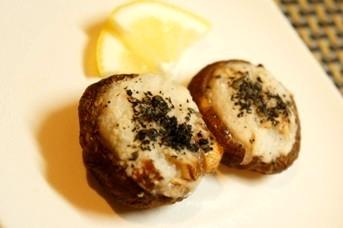 トースターで簡単おつまみ、椎茸の精進団子