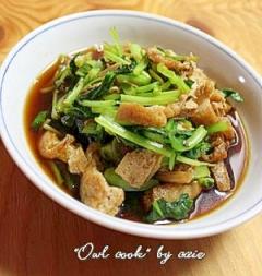 小松菜とお揚げの炊いたん
