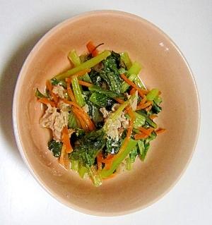 小松菜でもう一品  小松菜のあっさり煮
