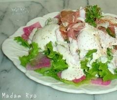生ハムのホワイトドレッシングサラダ