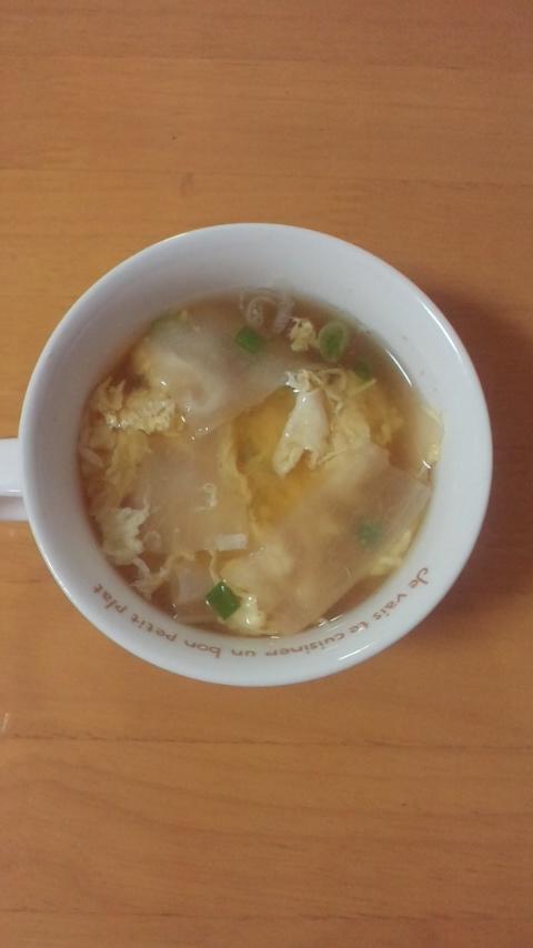 かんぴょう入り卵スープ