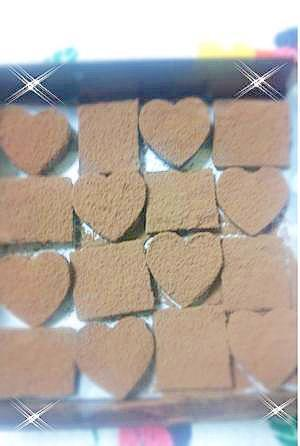材料3つで簡単!かわいいハート型生チョコ