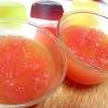 ブラッドオレンジジュースでグレープフルーツゼリー