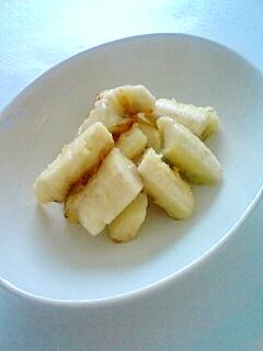 青バナナの焼バナナ