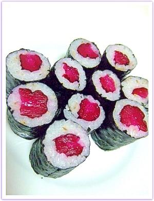 しば漬けの巻き寿司