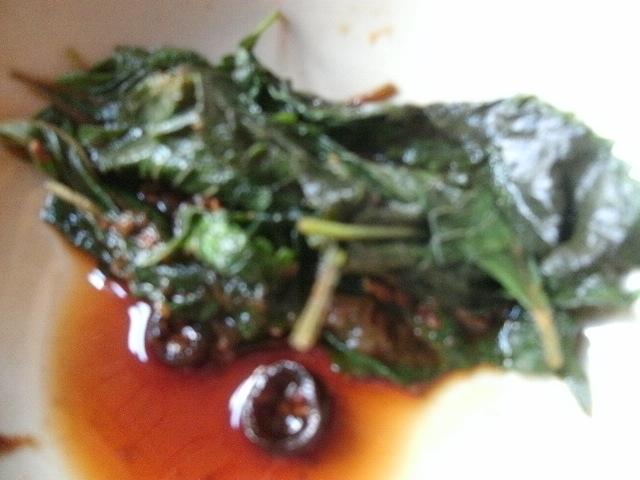 荏胡麻葉の青唐辛子麹漬け