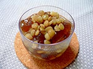レンズ豆と黒糖寒天の豆かん