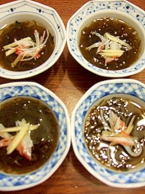 沖縄産味付もずく土佐酢 小鉢料理付きだし風もずく酢